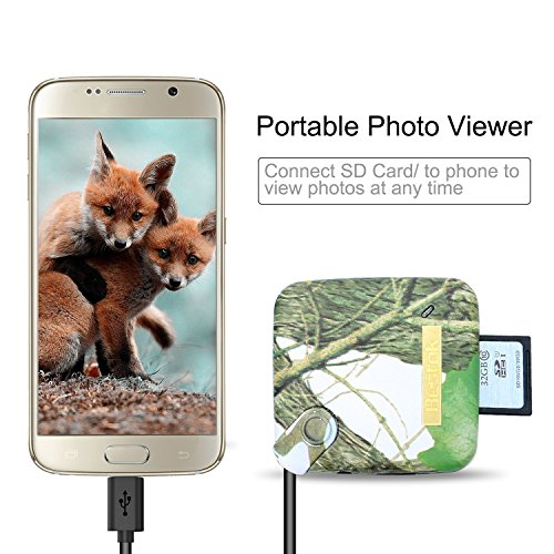 Bestok MicroSD Memory Card Reader Trail Camera Viewer for Android Smartphone Tablets Micro-USB OTG Smart Phone to View Deer Hunting Game Cam Photo & Video No App Needed Connection by Bestok