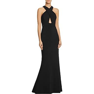 JS Collection Womens Criss-Cross Cut-Out Evening Dress at Amazon ...