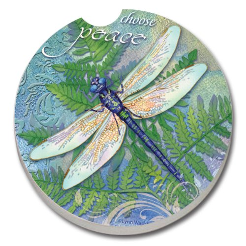 CounterArt Absorbent Stoneware Dragonfly Inspiration