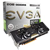 EVGA GeForce GTX770 SuperClocked with EVGA ACX Cooler, 2GB GDDR5 256bit, DL DVI-I, DVI-D, HDMI, DP, SLI Ready Graphics Cards (02G-P4-2774-KR)