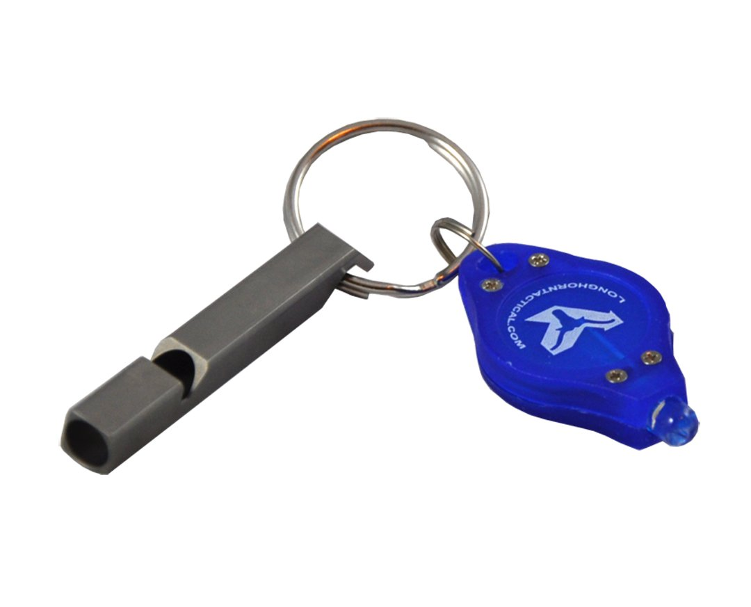 Nitecore NWS10 120 dB Titantium Loudest Survival Emergency Whistle with Bonus Lumentac Keychain Light