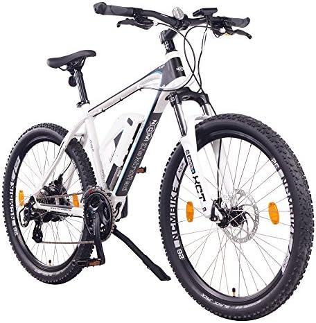 NCM Prague Bicicleta eléctrica de montaña, 250W, Batería 36V 13Ah 468Wh (Blanco 26