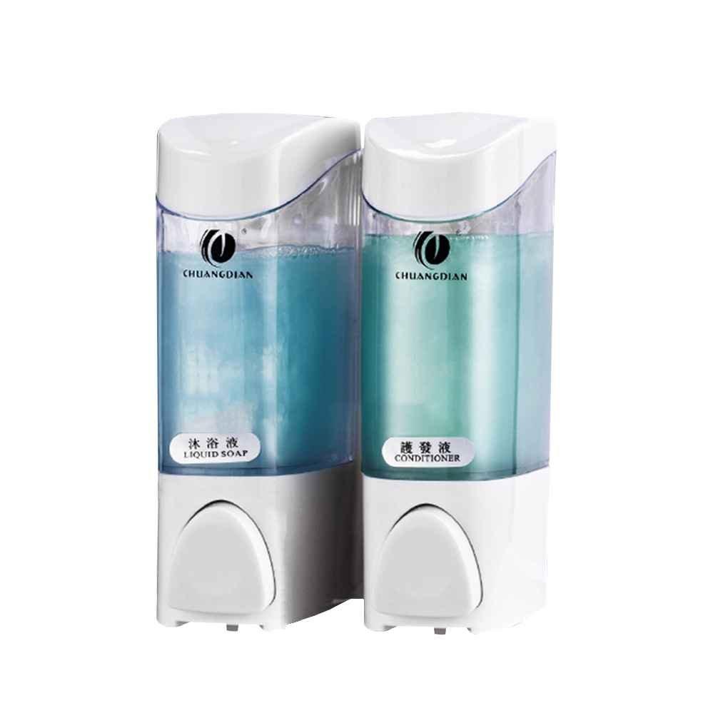 Xuanhemen Home Hotel Bathroom Shower Room Wall Mount Pump Lotion Liquid Soap Container Dispenser Shampoo Box Daily Supplies
