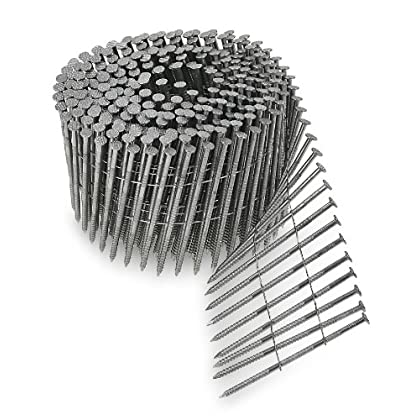 Image of Collated Fasteners Simpson Swan Secure S11A300PNJ 3-Inch by 0.120-Inch Type 304 Stainless Steel Ring Shank with 15-Degree Wire Coil and 17/64-Inch Head, 1800-Pack