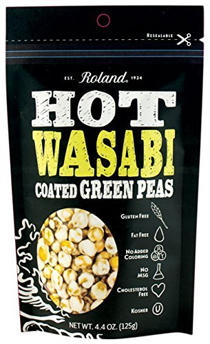 (Roland Green Peas, Hot Wasabi, 4.4 Ounce (Pack of 12) by Roland)