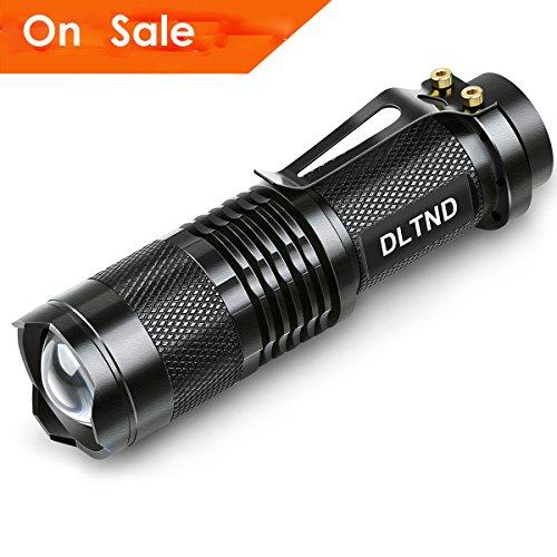 Mini Tactical Flashlight (Flashlight, DLTND Super Bright 500lumens Water-resistant 3.7