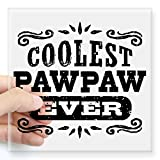 """CafePress - Coolest Pawpaw Ever Square Sticker 3"""" X 3 - Square Bumper Sticker Car Decal, 3""""x3"""" (Small) or 5""""x5"""" (Large)"""