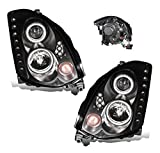 04 infiniti headlights - SPPC Headlights Black Projector Assembly (Hid Compatible and CCFL Halo) for Infiniti G35 2 Door - (Pair) Include Driver Left and Passenger Right Side Replacement Headlamp
