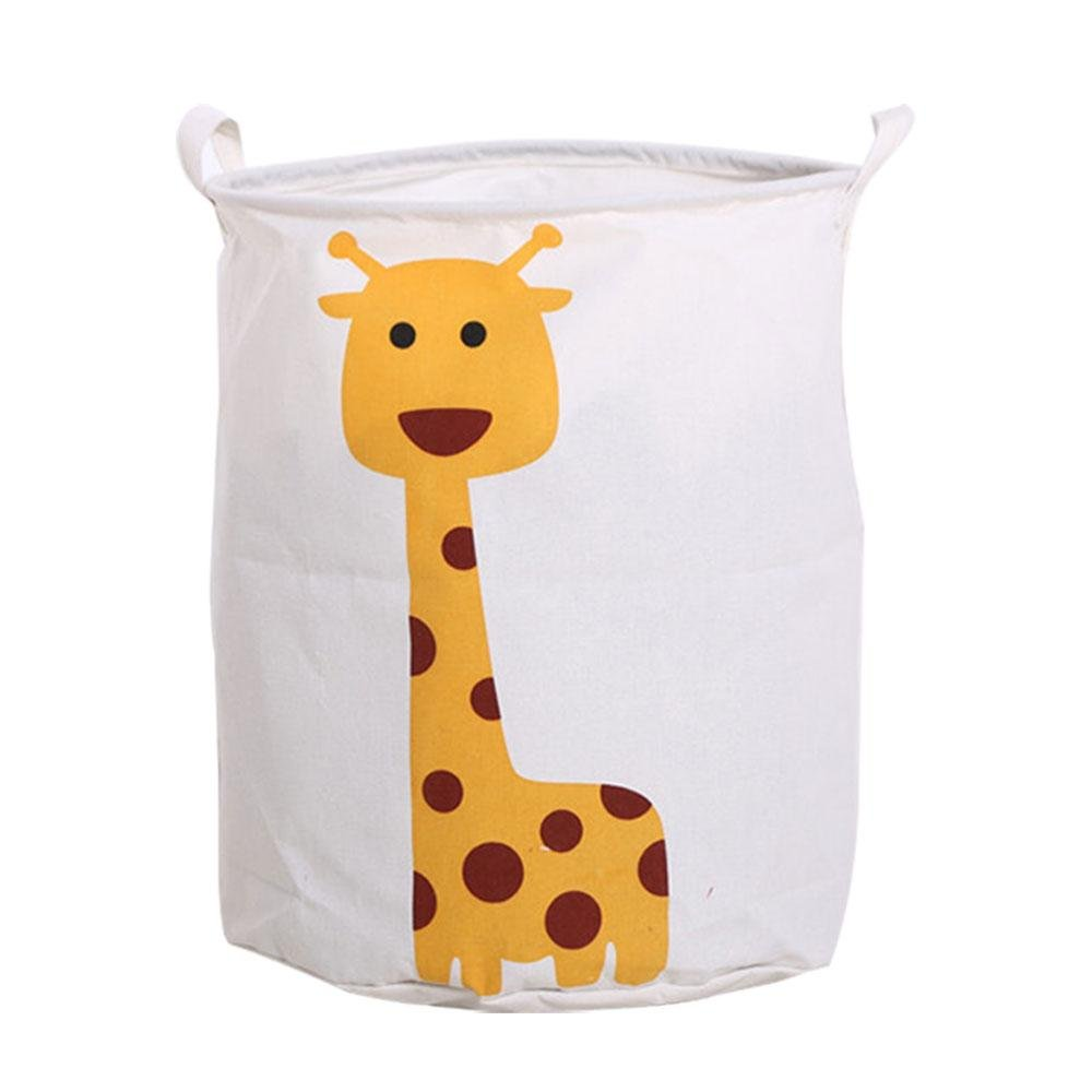 niceeshop Cartoon Laundry Basket, (TM) Foldable Waterproof Laundry Basket, Cartoon Animals Large Size Kids Toy Box/Toy Storage for Girls and Boys