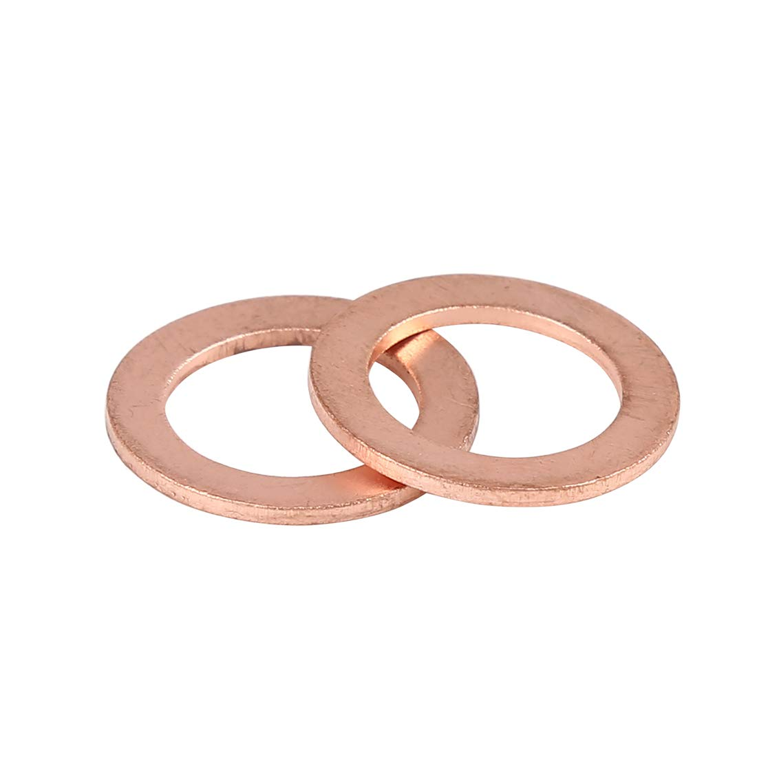 X AUTOHAUX 20pcs Copper Washer Flat Sealing Gasket Ring Spacer for Car 16 x 24 x 1.5mm