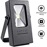 LED Work Light, 15W (60W Incandescent) Cordless Flood Light, USB Power Bank Function with 6600mah Rechargeable Battery by LOFTEK