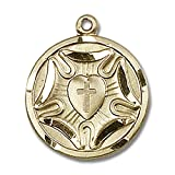 14kt Yellow Gold Lutheran Medal 3/4 x 5/8 inches