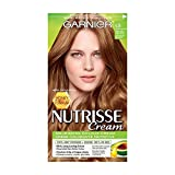Garnier Nutrisse Cream Honey Blonde Collection 6.34 Amber Light Honey Brown, Permanent Hair Colour Enriched with Avocado, Olive and Shea Oils