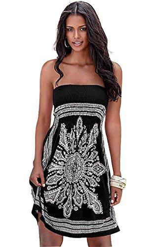 Boho Senza Maniche Casual Da Etnico Hippie Cerimonia Floreale Cocktail Tribale Color Corto Donna Elegante Landove Abito Spiaggia Abiti 19 Sexy Vestito pqY0xBywct