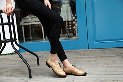TDA - Zapatos Planos con Cordones mujer Beige