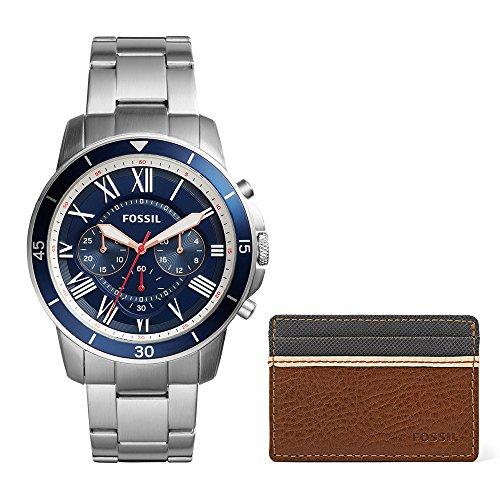 Fossil Men's Grant Sport FS5336SET Silver Stainless-Steel Analog Quartz Dress Watch