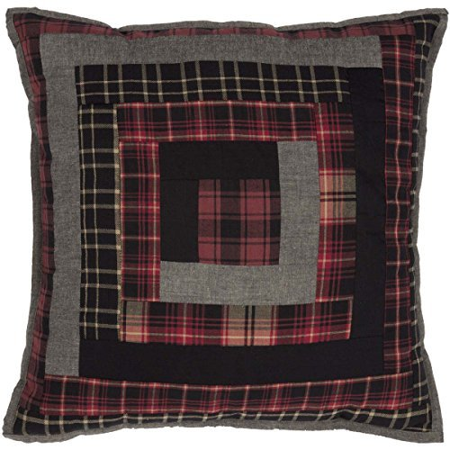 VHC Brands Rustic & Lodge Pillows & Throws - Cumberland Red Patchwork 18