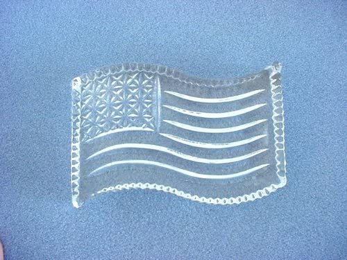 Waterford Crystal American Flag Paperweight