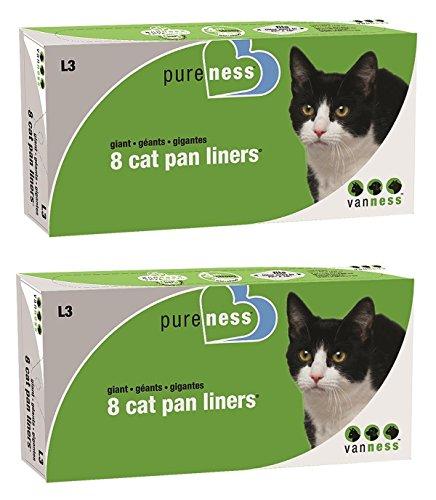 (2 Pack) Van Ness Giant Cat Pan Liners, 8-Count Per Pack ()