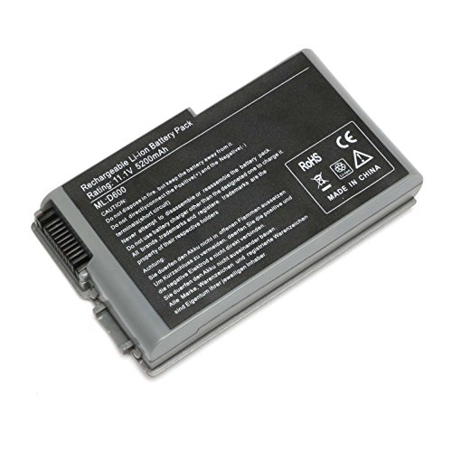 Skyvast 11.1V 5200mAh Laptop battery for Dell Latitude D500 D600 D510 D610, Inspiron 500M 505M 510M 600M, 4M010 1M590 3R305 0R160 312-0068 (Latitude Dell Battery D610)