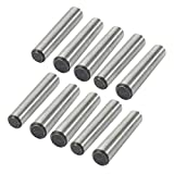 uxcell 10 Pcs 8mm Small End Diameter 45mm Length GB117 Carbon Steel Taper Pin