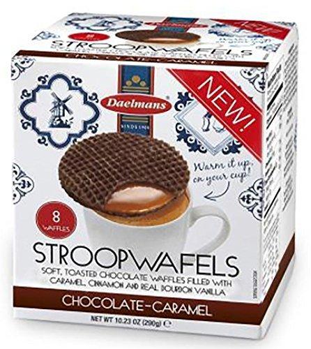 Daelman's Chocolate Caramel Stroopwafels 10.23 Ounce Cube (8 Waffles) by Daelmans