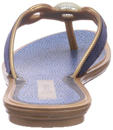 Grendha Exotic Thong - Sandalias de goma para mujer azul - Blau (Blue 90061)