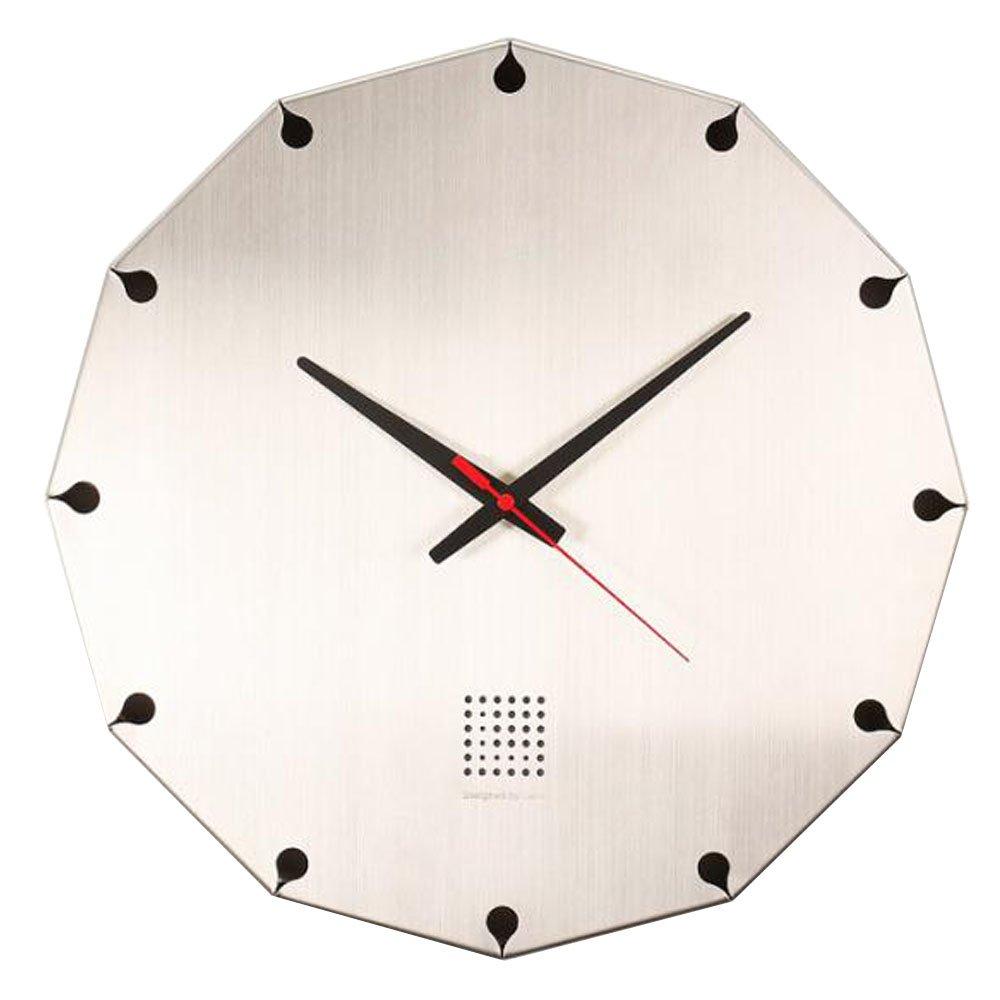 LEON (レオン) 掛け時計 デザイナーズクロック インテリア おしゃれ オシャレ かわいい 高級 ステンレス デザイン クロック シルバー Vessel Clock B00XKHLXBU