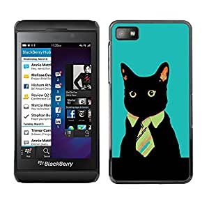 GagaDesign Phone Accessories: Hard Case Cover for Blackberry Z10 - Office Business Kitty Cat