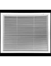 """10"""" X 10""""Aluminum Return Filter Grille - Easy Airflow - Linear Bar Grilles [Outer Dimensions: 11.75w X 11.75h]"""