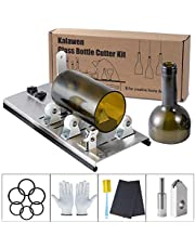 Kalawen Adjustable Glass Bottle Cutter Kit DIY Tool , Stainless Steel Cutting Machine Set for Wine, Beer, Liquor, Whiskey, Alcohol, Champagne, Soda Round Bottles