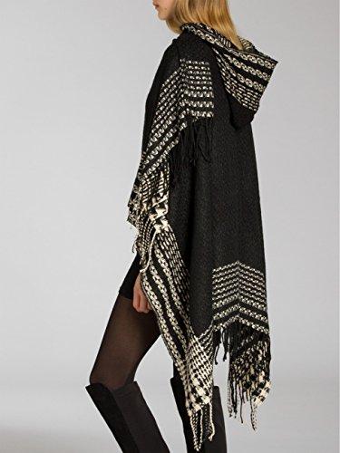 CASPAR Fashion - Poncho - para mujer negro