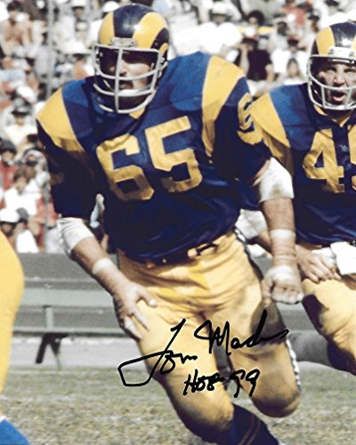 - Tom Mack, Los Angeles Rams, LA Rams, Signed, Autographed, 8X10 Photo, a Coa with the Proof Photo of Tom Signing Will Be Included