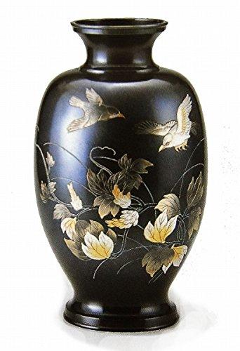 山本秀峰『凰祥小鳥花器』銅製 B079L561Q7