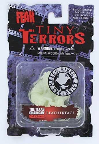 Mezco Toyz Cinema of Fear Tiny Terrors Glow in The Dark Figure Leatherface