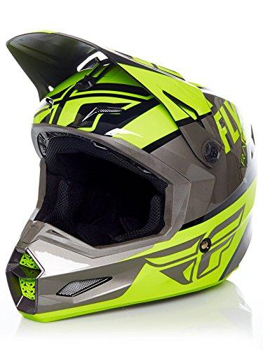 Vis Racing Types - FLY RACING ELITE GUILD HELMET HI-VIS/GREY/BLACK LG 73-8605-7-L