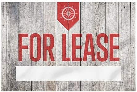 Nautical Wood Wind-Resistant Outdoor Mesh Vinyl Banner 12x8 CGSignLab for Lease