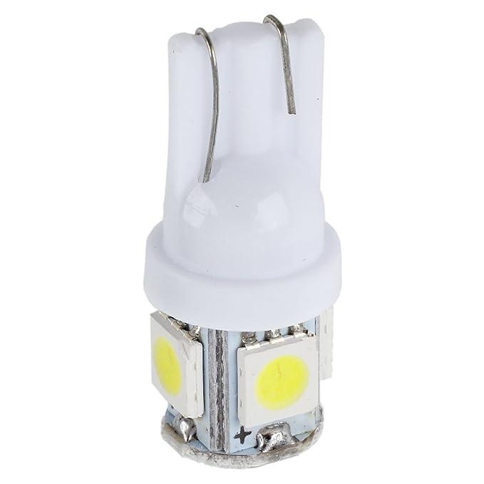 1 opinioni per SODIAL (R) 5x T10 5 LED 5050 SMD W5W 501 xeno dell'automobile bianca laterale