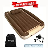 Bambino Bed - Inflatable Toddler Bed with Inflatable Rails - Portable Travel Bed - Blow Up Kids Bed Mattress - Crib Sheet Fits Around Inner Inflatable - BONUS Electric Pump and Inflatable Pillow