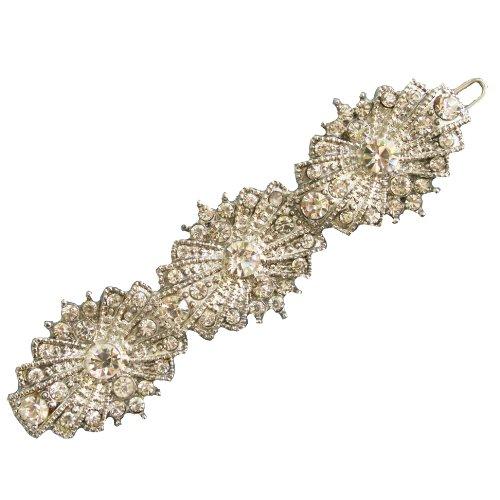 ART DECO Hair clip Rhinestone Vintage Bridal Wedding Accessories