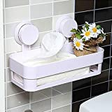 Plastic Bathroom Storage Shelf Home Kitchen Storage Holder Kitchenware Toiletry Dish Rack with Sucker Organization
