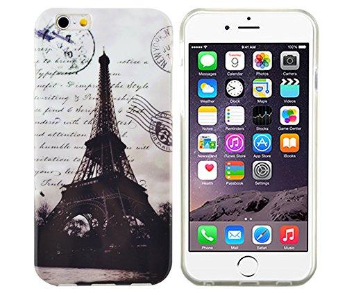 gada - Handyhülle für Apple iPhone 6 Schutzhülle Case Bumper Cover Etui TPU Gel Paris Eiffelturm