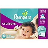 Pampers Cruisers Diapers, Size 4, One Month Supply, 164 Count