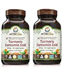 Nutrigold Turmeric Curcumin Gold Vegan Blend for Joint, Liver, Eye and Skin Health 500 milligrams (120 Vegan Capsules) Pack of 2