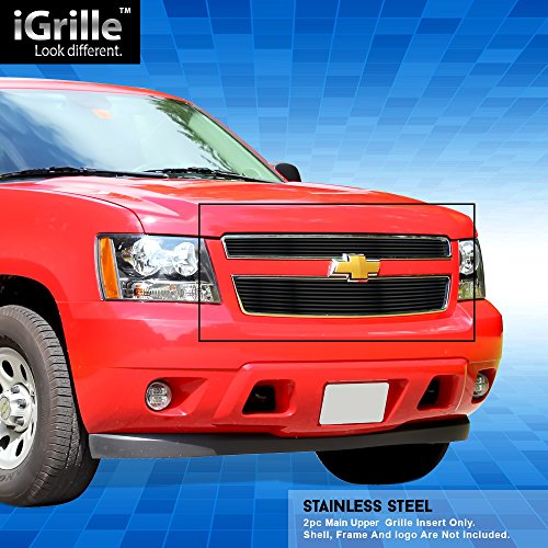 Off Roader Black Stainless Steel eGrille Billet Grille Grill for 2007-2014 Chevy Tahoe/Suburban/Avalanche ()