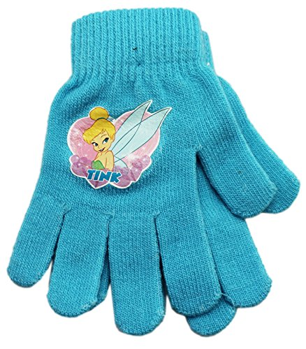 Price comparison product image Baby Blue Kids Sized Disney Tinkerbell Magic Stretch Gloves