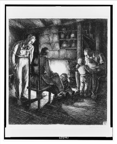 Historic Print (L): The old fireplace / Carl M. Schultheiss. (Carl Fireplace)