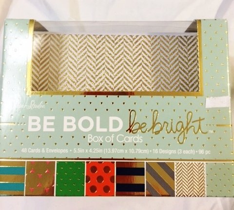 Be Bold Be Bright Foil Embossed Blank Notecard Set Value Pack 48 Ct.