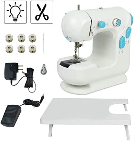 Vogvigo - Máquina de coser eléctrica portátil para principiantes: Amazon.es: Hogar