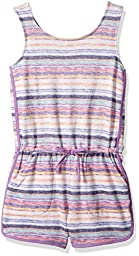 Jessica Simpson Big Girls\' Sansa Pullon Romper, Paradise Stripe, XL